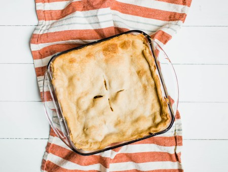 This is not your momma's chicken pot pie. Get ready for a recipe that will blow your socks off! | read more at happilythehicks.com