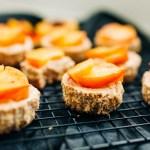 Peaches and Cream Mini Cheesecakes