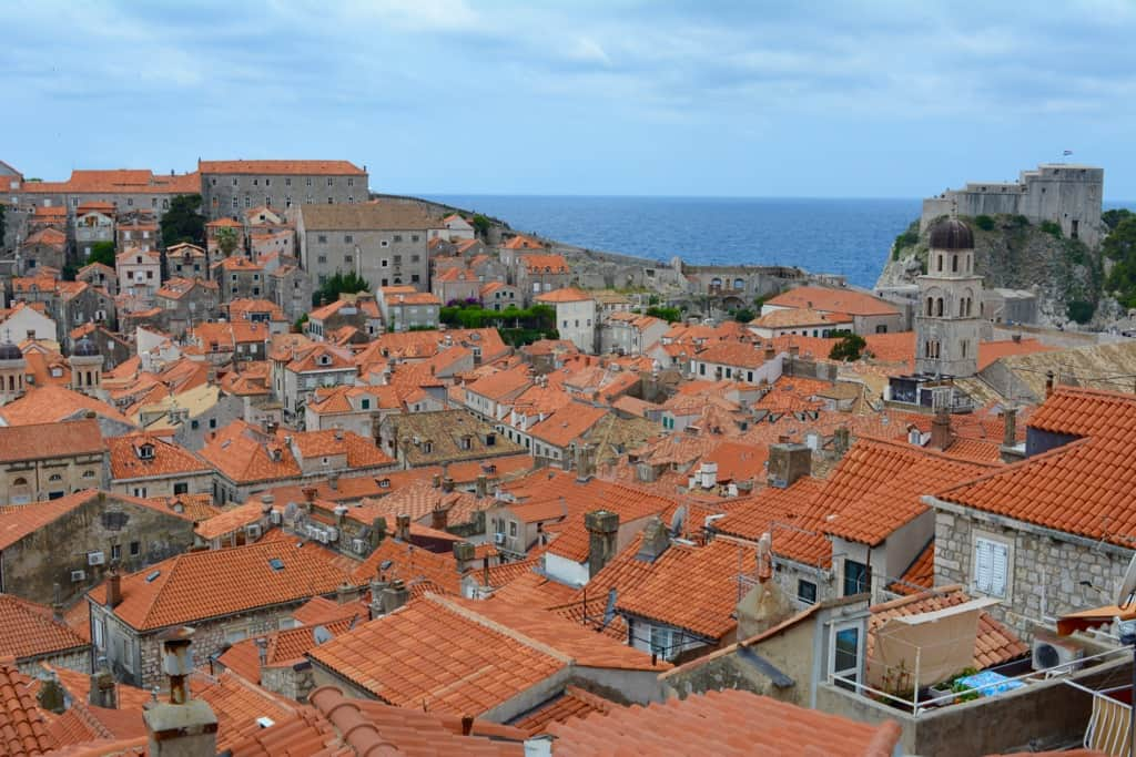 The roofs of Dubrovnik