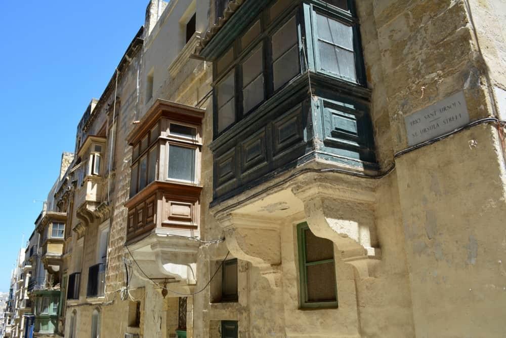 Balconies in Valletta