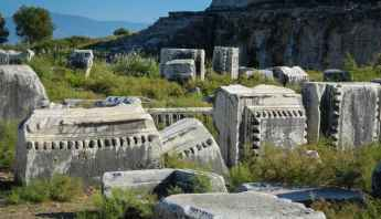 The remains of Miletus scattered in the landscape
