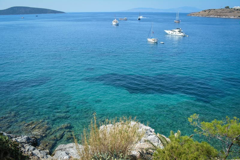Bodrum's blue sea