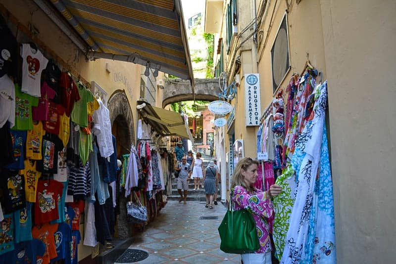 Shopping is big in Positano