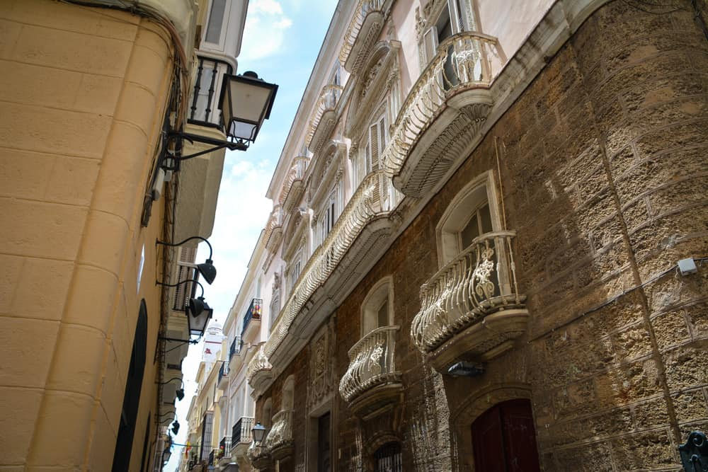 Balconies in the old town