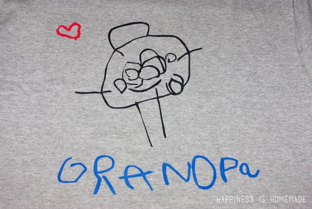 Fathers Day Gift - Kids Artwork Shirt for Grandpa