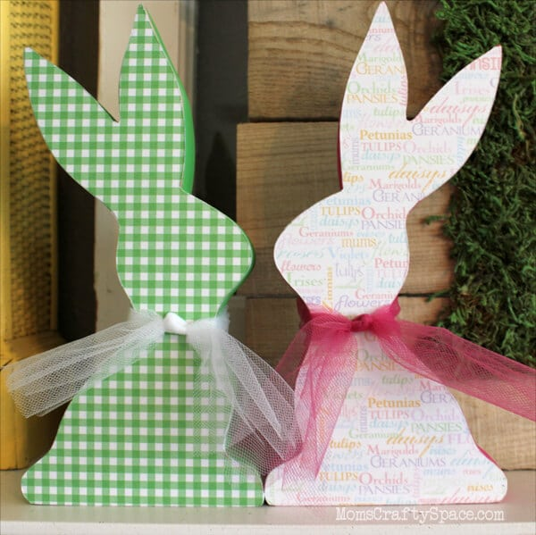 Quick Craft: Mod Podge Easter Bunnies - Happiness is Homemade