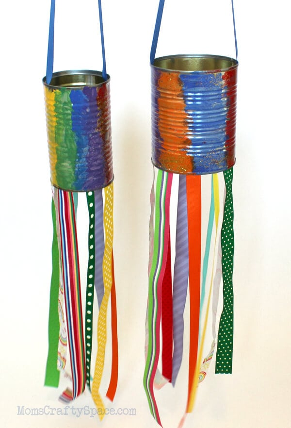 Kids Craft Recycled Tin Can Windsocks Happiness Is Homemade