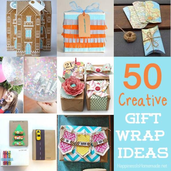 50 Unique and Creative Gift Wrap Ideas
