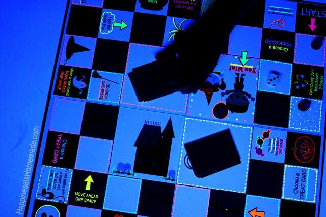 Homemade Glowing Halloween Board Game With Neon Sharpies