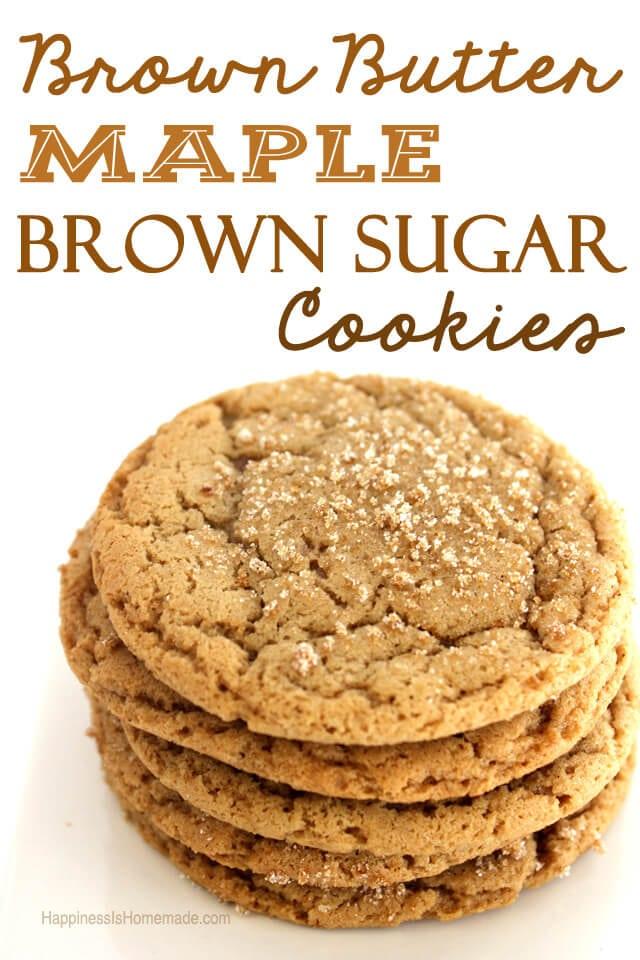 Maple Brown Sugar Brown Butter Cookies