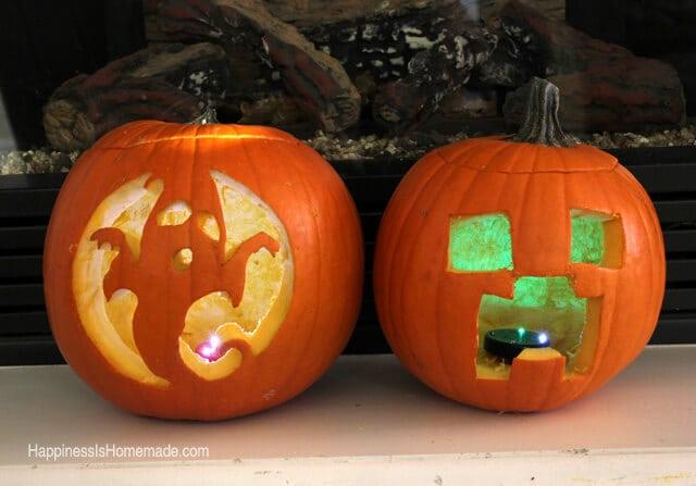 Minecraft Creeper Pumpkin Carving Templates