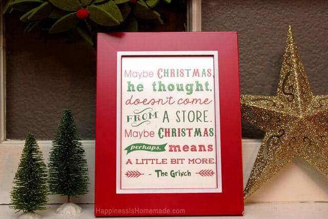 Grinch Printable via Happiness is Homemade
