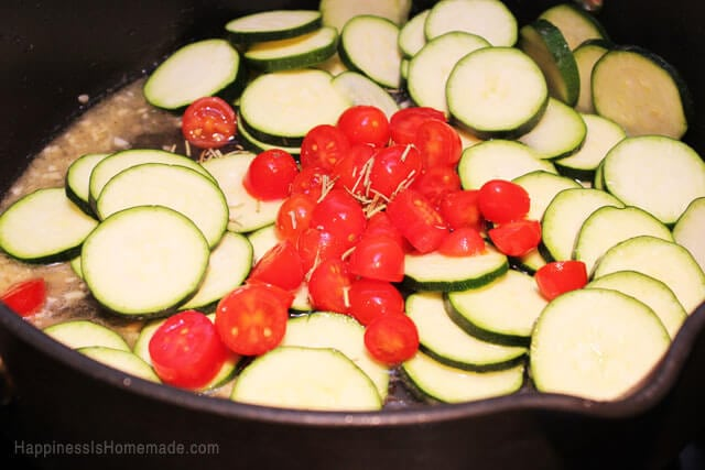 Zucchini with Grape Tomatoes and Rosemary
