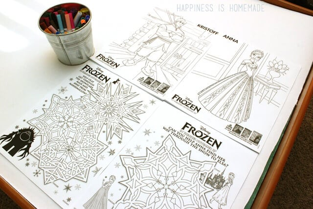 Fun FROZEN Printable Coloring Sheets Activity #FrozenFun #cbias #shop