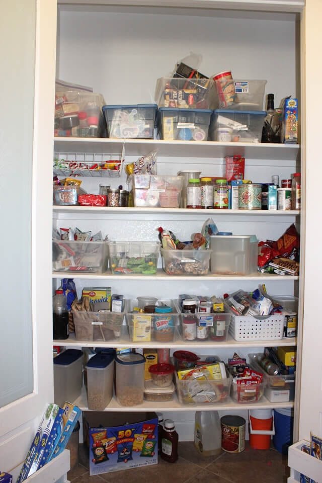 Unorganized Pantry Before