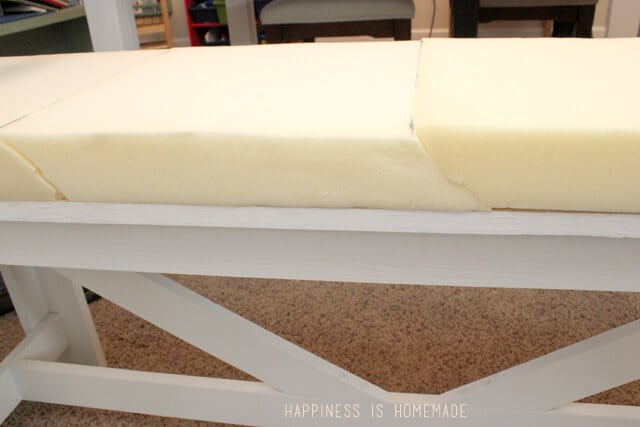 Upholstering a Bench