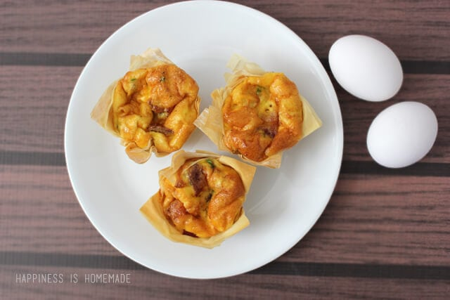 Bacon and Cheddar Mini Quiche with Phyllo Dough Crust