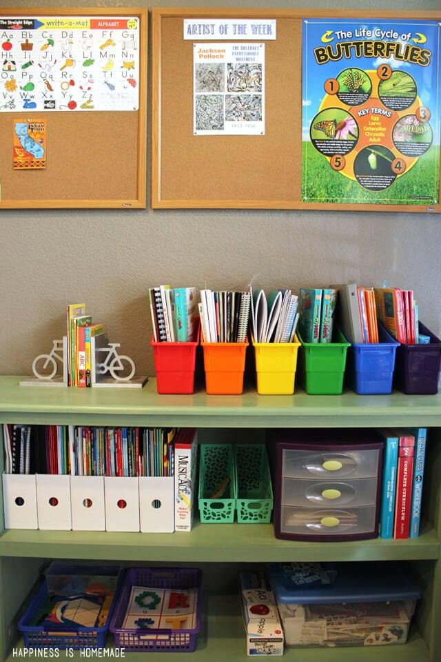 Homeschool Room Shelves