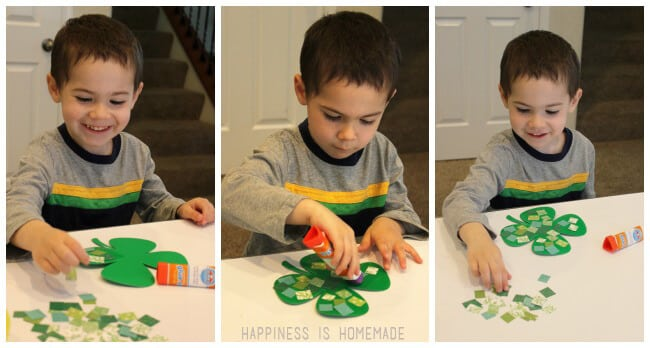 St Patricks Day Kids Shamrock Craft