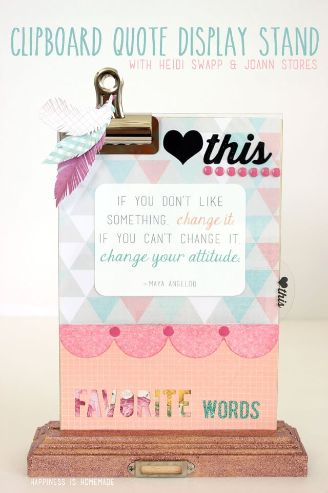Clipboard Quote and Photo Display Stand by Heidi Swapp and Joann Stores