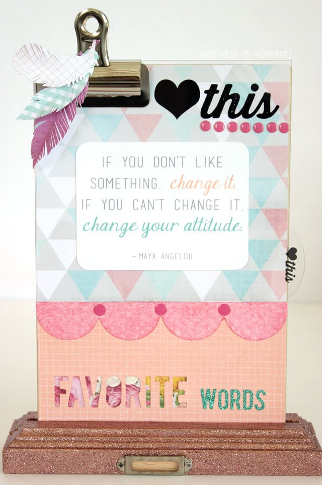 Heidi Swapp Altered Clipboard Quote or Photo Display