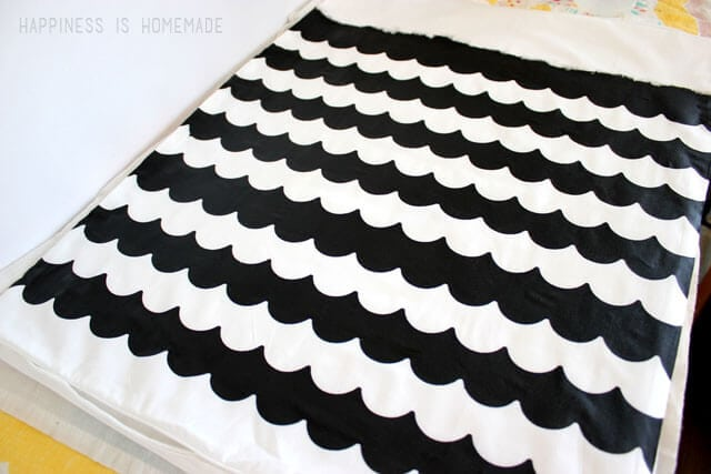Scalloped Stripe Pillow Painted with Shape Tape