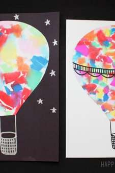 Hot Air Balloon Watercolor Art Happiness Is Homemade