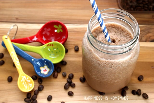 Creamy Blended Iced Mocha Coffee Drink