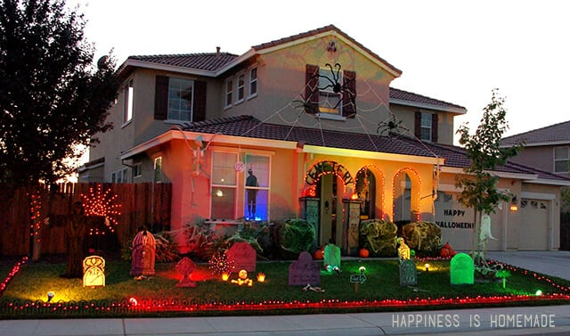 Home Decorated for Halloween