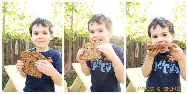 Kids Love Cinnamon Raisin Bread