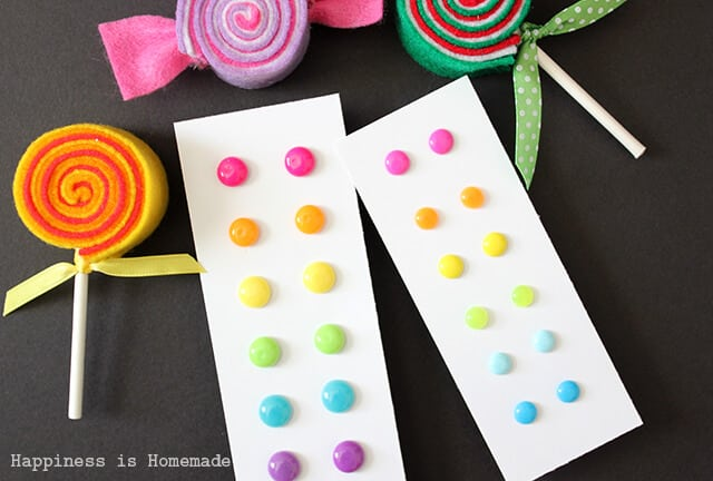 Candy Button Earrings and Felt Candy Christmas Ornaments