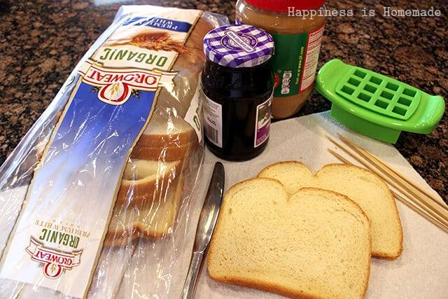 PBJ Skewer Ingredients