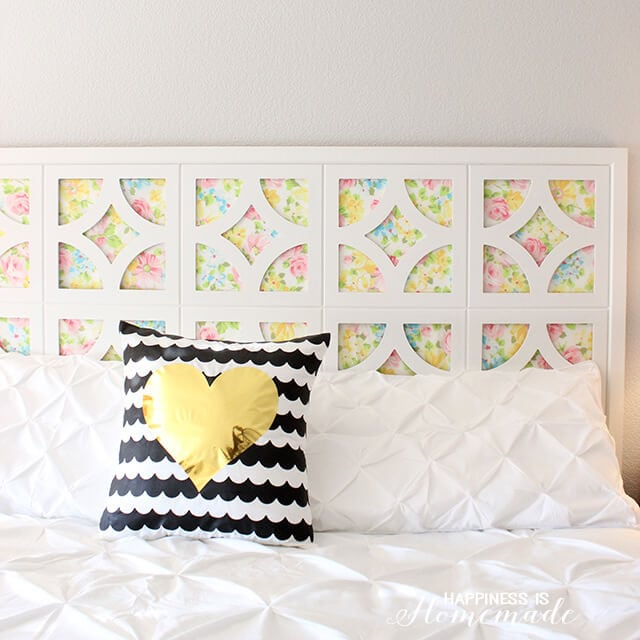 DIY Headboard with Vintage Sheets and Cut It Out Frames