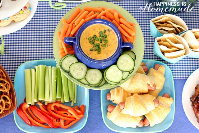 Football Party Food with Ultimate Queso Dip