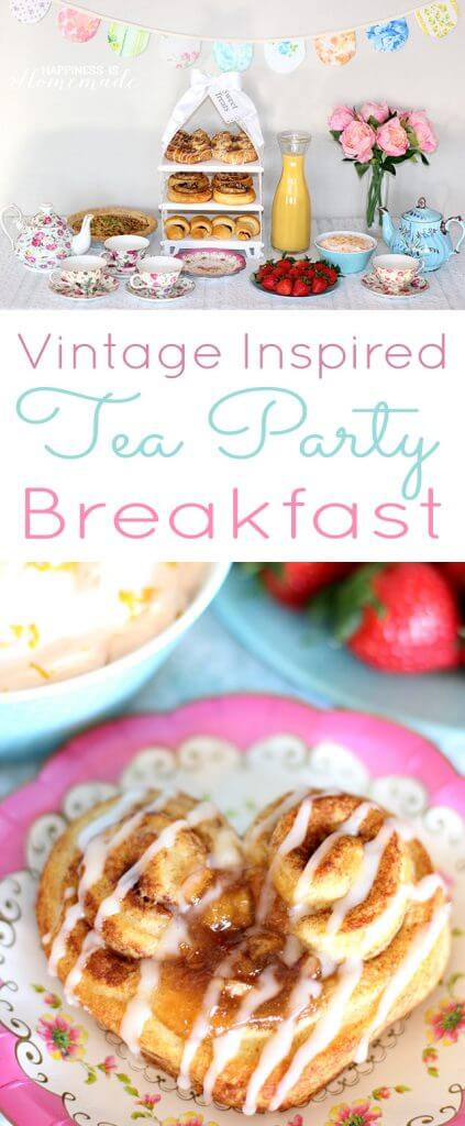 Vintage Inspired Tea Party Breakfast