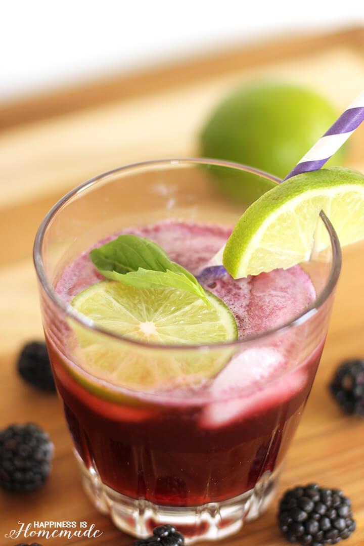 Blackberry Lime Vodka Fizz