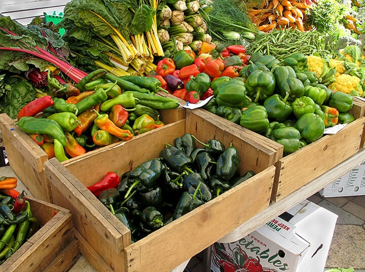 Organic Produce at Farmers Market