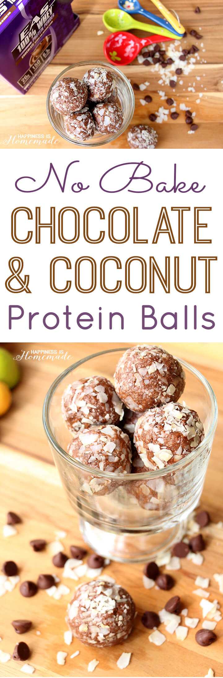 No Bake Chocolate and Coconut Protein Balls Recipe