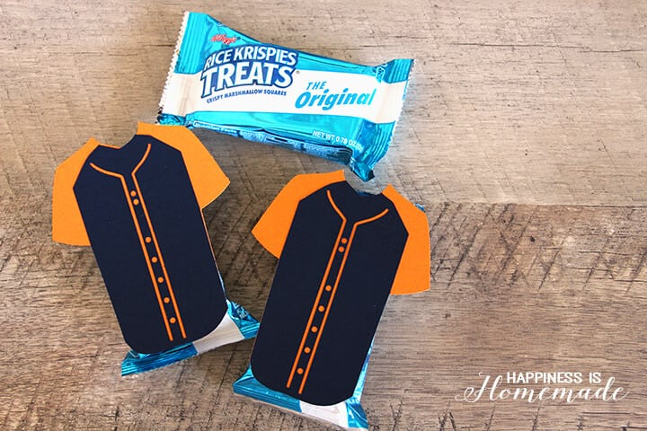 Baseball Jersey Rice Krispies Treats