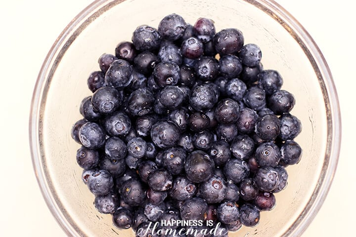 Blueberries with a Stevia Syrup Glaze
