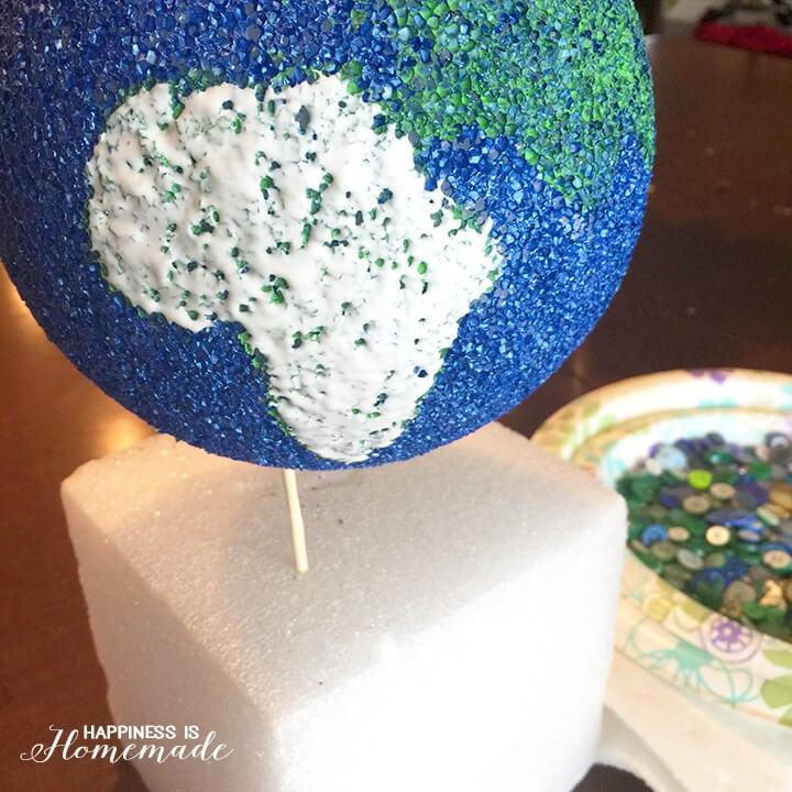 Button Globe Making in Progress