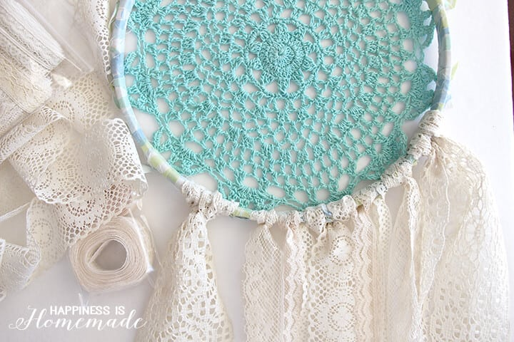 How to Make a Vintage Sheet and Doily Dream Catcher