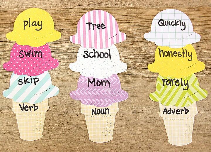 Language Ice Cream Cone Activity
