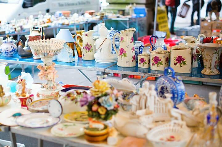 Set up a pretty yard sale display for maximum profit