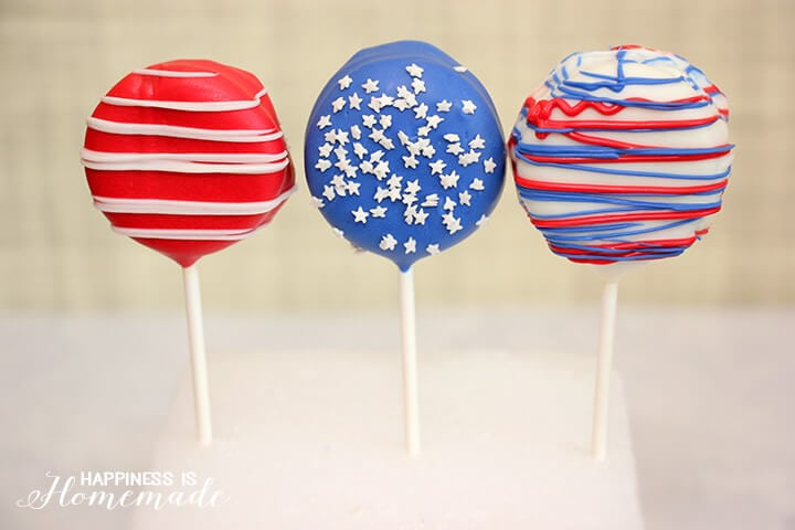 Fourth of July Oreo Pops
