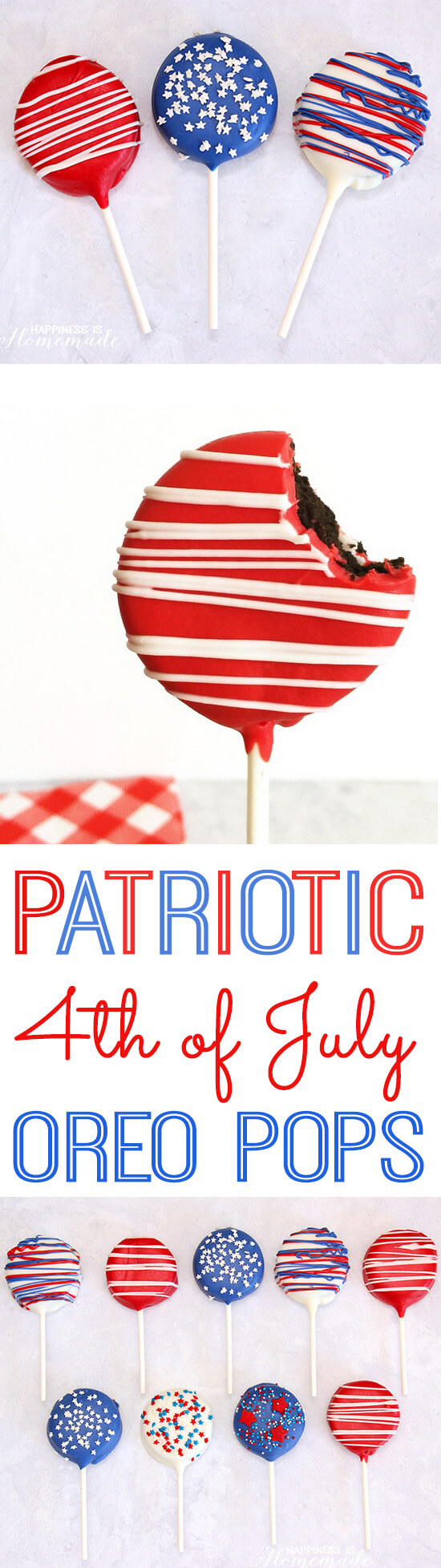 How to Make Patriotic Oreo Pops for 4th of July
