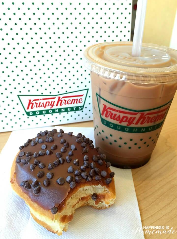 Krispy Kreme Brownie Batter Donut and Mocha Latte Chiller
