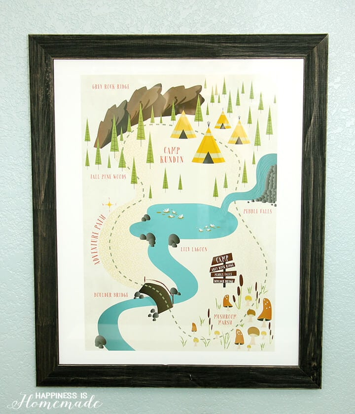 Adventure Map Artwork from Minted