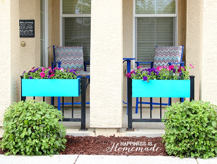 Brightly Colored Window Boxes Add Instant Curb Appeal