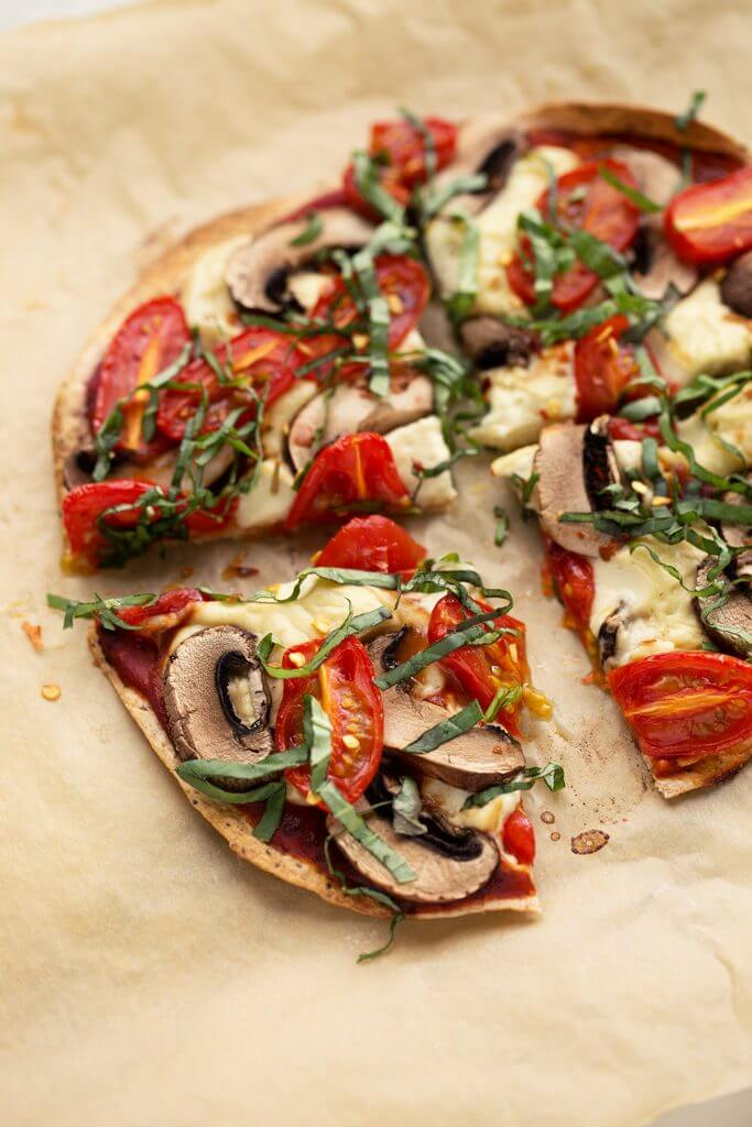 Basil Tomato Vegan Personal Pizzas